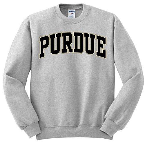 Purdue University Oxford Grey Sweatshirt with Purdue Arch