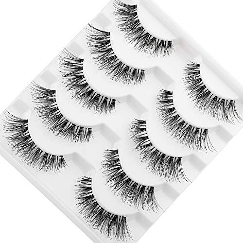 JIMIRE Fake Eyelashes Natural Lashes Multipack False Eyelashes