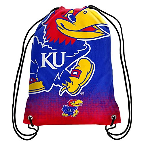 2016 NCAA College Team Logo Drawstring Backpack Bag - Pick Team (Kansas Jayhawks) (Kansas Jayhawks Backpack)