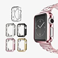 Apple Watch 2 Case 42mm, UMTELE Plated TPU Scratch-resistant Flexible Case Slim Lightweight Protective Bumper...
