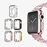 Apple Watch 2 Case 38mm, UMTELE Plated TPU [Patent Pending] Scratch-resistant Slim Full Body Protective Cover for Apple Watch Series 1, Series 2, Pack of 5