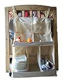 WODISON Windel-Speicher-Beutel für Babybett hängend Nacht Taschen (Beige)
