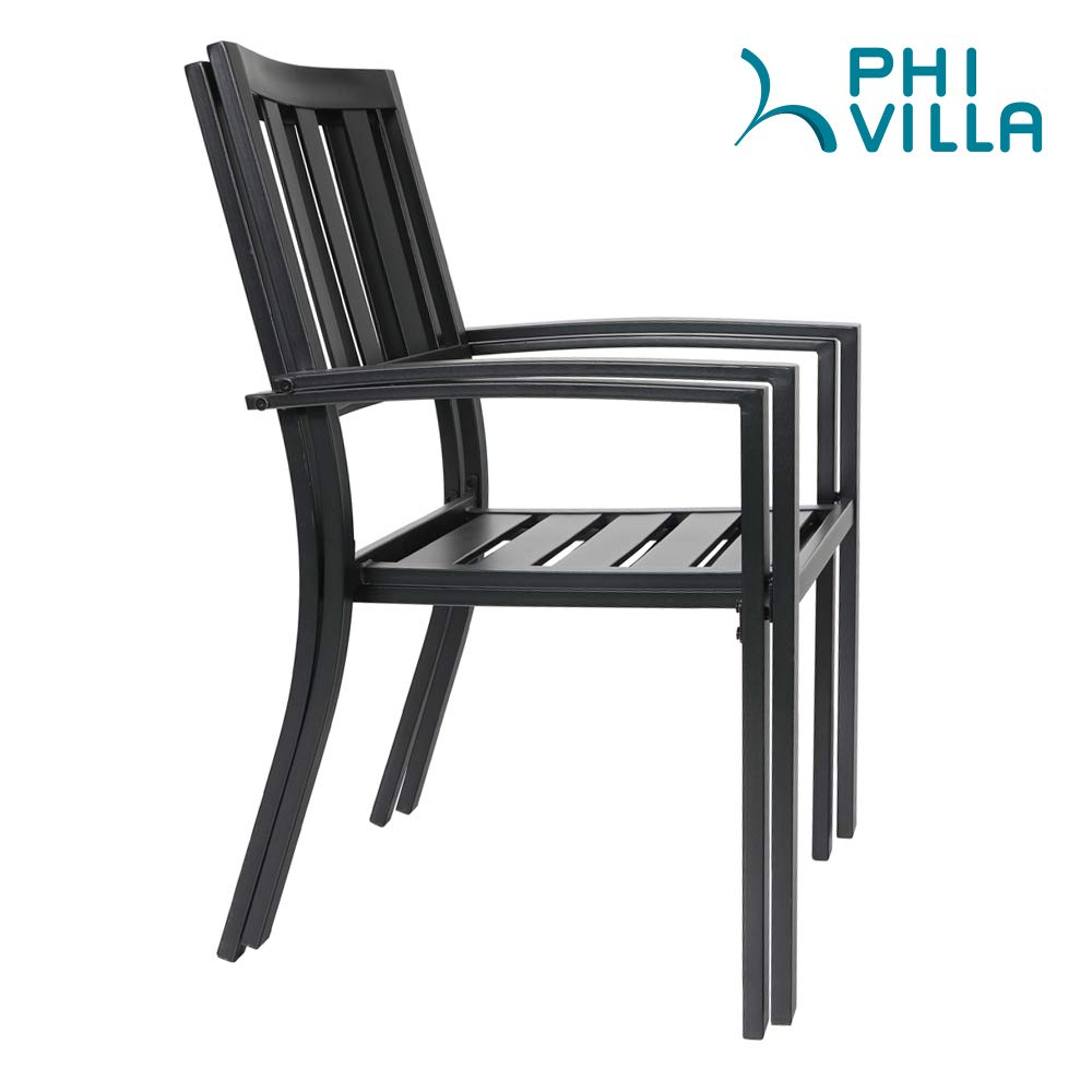 Amazon.com: PHI VILLA 059-01-SET 3501 - Silla de metal (2 ...