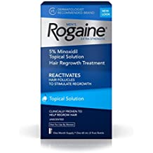 Men's Rogaine Extra Strength Hair Loss and Hair Regrowth Treatment, Minoxidil Topical Solution, One Month Supply.