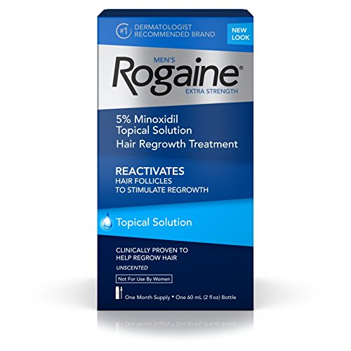 Men's Rogaine Extra Strength Hair Loss & Hair Regrowth Treatment, Minoxidil Topical Solution, One Month Supply