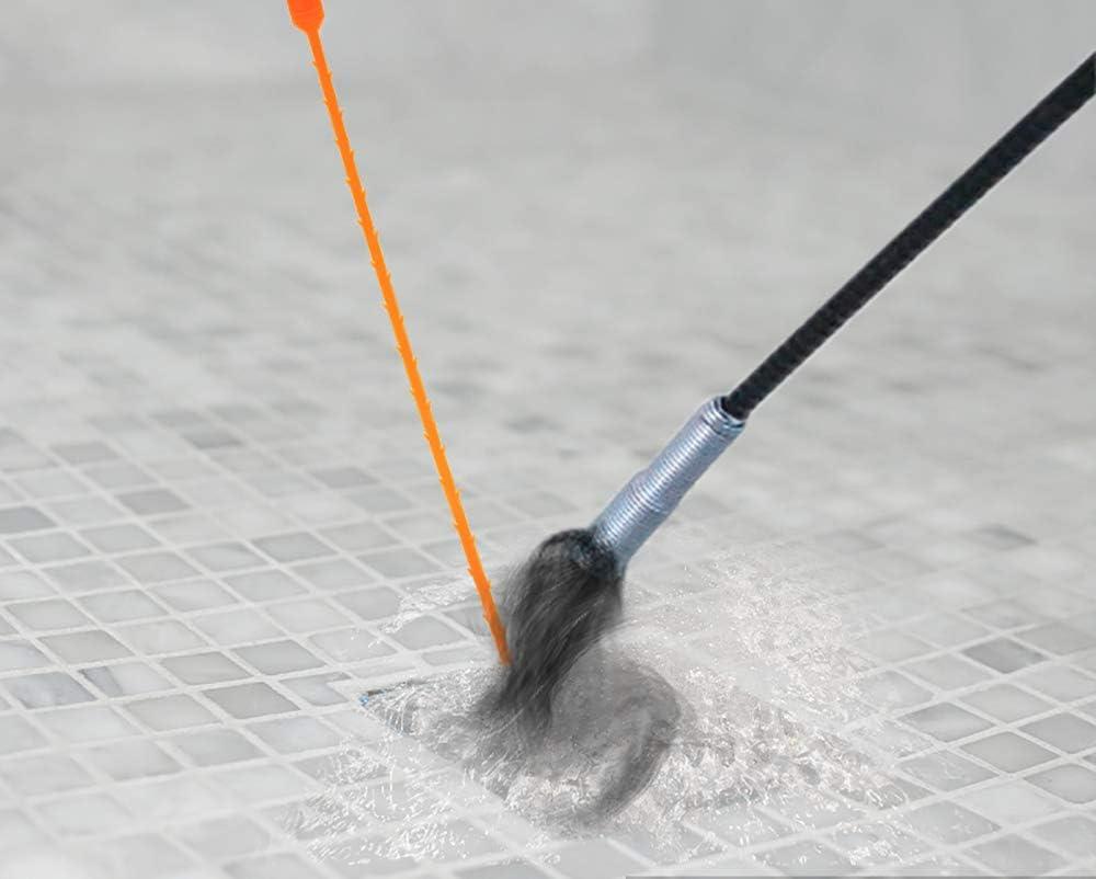 Chingde Gancho de limpieza de fregadero 6 piezas Herramienta de drenaje del cabello Tubo de resorte dragado de alcantarillado herramientas de dragado drenaje serpiente tapa de cabello drenaje