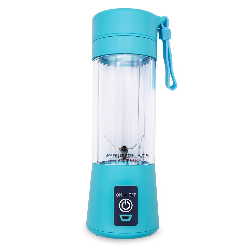 Personal Portable USB Rechargeable Mini Juicer Cup, Travel Juice Extractor Mixer, Smoothie Blender, Juicer Machine, 380ml Fruit Mixing Machine with USB Cable