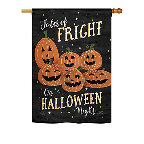 Breeze Decor HS112083-P3 Fright on Halloween Night Fall Halloween Impressions Decorative Vertical 28