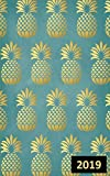"""Gold Pineapples Monthly/Weekly Planner with Inspirational Quotes (5""""x8"""") (2019 Planner and Organizer with Calendar and Motivational Quotes)"""
