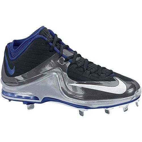 Nike Mens Air Max Mvp Elite Mid Metal Tacchetti Da Baseball Nero / Royal / Grigio