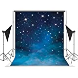 5x7ft Fantasy Stars Photography Background Evening Blue Sky Photo Backdrops Studio Props for Children Photography, Customized, Wrinkle Free