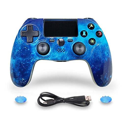 Controlador ISHAKO PS4 Gamepad inalámbrico Dual Shock Gaming con panel táctil Controlador de alta precisión para Sony Playstation 4 / PS4 Pro / Slim / PC - Azul