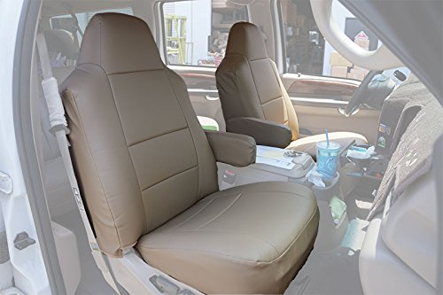 2000-2005 FORD EXCURSION BEIGE Artificial leather Custom Made Original fit FRONT seat covers & 2 Armrest covers