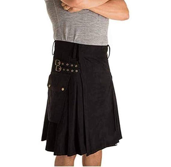 Kewing Falda Tradicional Escocesa Hombres Falda Tradicional ...