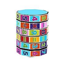 1pc Digital Column Cube Toy Kindergarten Preschoolers Arithmetic Math Games for Kids Interactive Educational Development Toys for Kids Children Birthday Present Gift Party