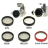 gouduoduo2018 DJI Phantom 4 Phantom 3 Camera Lens Filter CPL MCUV ND4 ND8 Lens Cover