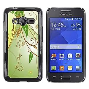 Paccase / SLIM PC / Aliminium Casa Carcasa Funda Case Cover - Design Floral Green - Samsung Galaxy Ace 4 G313 SM-G313F