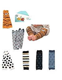 Lucky staryuan Prime Day Set of 6 Combed Cotton Baby Leg Warmers-Boy or Girl