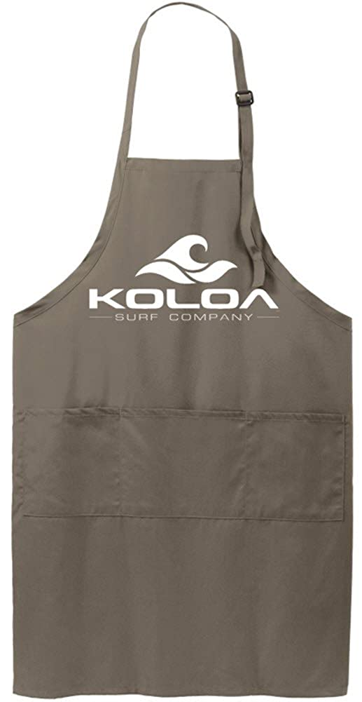 Koloa Surf Classic Wave Logo Beach BBQ Tailgating Aprons with Pockets USALks32633