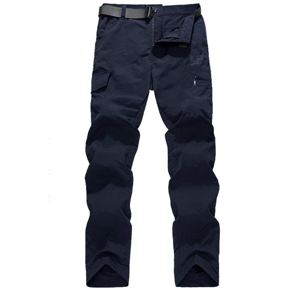 XNKLH Mens Summer New Outdoor Quick-Drying Solid Color Slim Casual Breathable Sweatpants Sweatpants