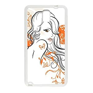 Butterfly Sexy Girl Phone Case for Samsung Galaxy Note3
