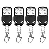 Aramox Cloning Key Fob, 4pcs Universal Cloning Wireless Remote Control Key Fob for Car Garage Door Gate 433mhz