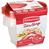 Rubbermaid TakeAlongs 3.2-Cup Round Container, Pack of 4