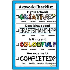 Amazon.com: Artwork Checklist Visual Arts Rubric Poster 12 ...