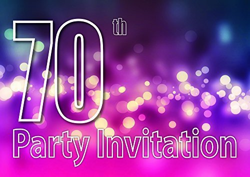 Clayfrog 10x 70th Theme Birthday Party Invitations Invites Kids Adults Men/Women Cards]()
