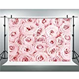 Photo Studio,Rose,Muslin Collapsible Backdrop Background for Photography, Video and Television,3.28x5ft,Sweet Fresh Garden Scenic Seasonal Yard Vegetation Flourish Anniversary Celebration Decorative