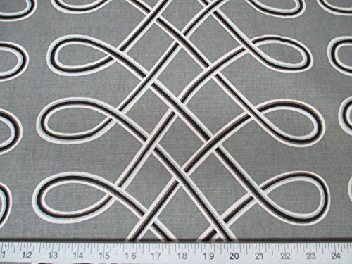 Discount Fabric Robert Allen Upholstery Drapery Multi Loop Storm Grey By the Yard RA04 - Robert Allen Drapery Fabric