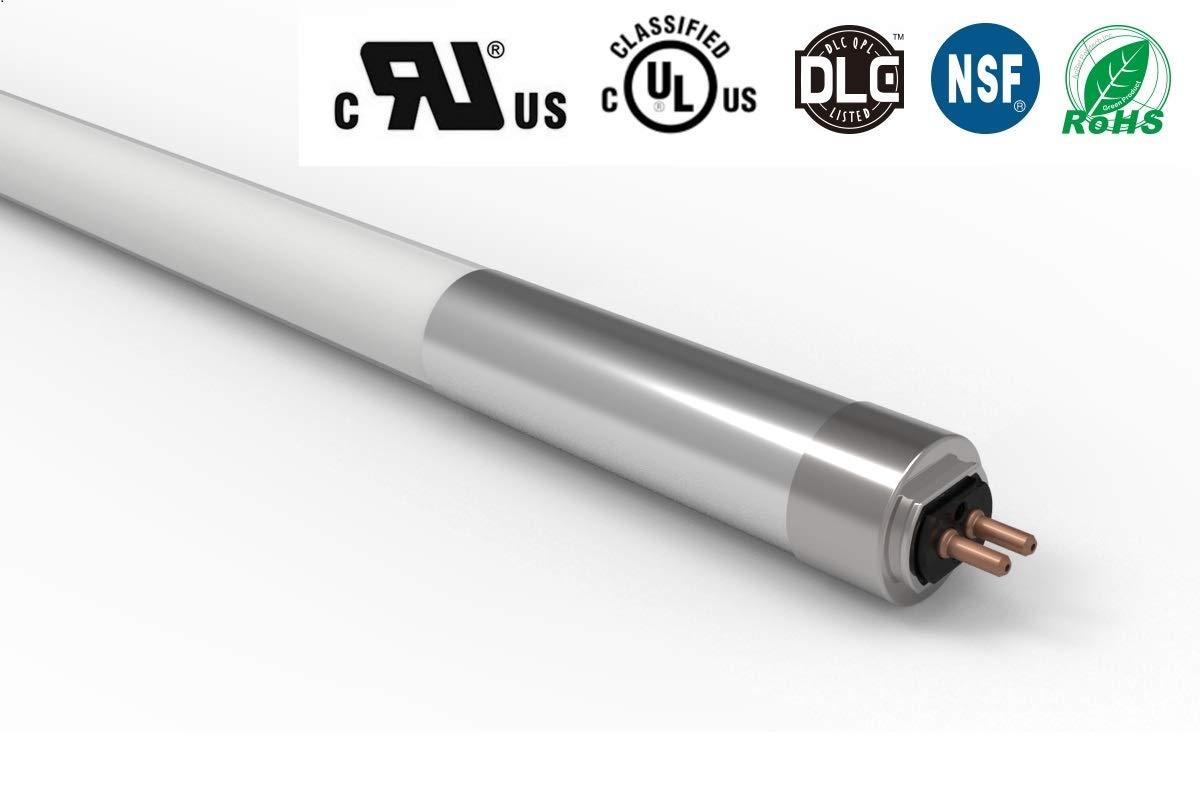 25個パック T5 4フィート ダイレクトワイヤー スーパーライトチューブ 25W(54W以上相当) 3500lm 4000K(クールホワイト) バイパスバラスト つや消しガラス UL認定 DLC認定 (25、4000K) B07PWYTT89