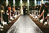 ShinyBeauty 3FTx15FT-Wedding Aisle Runner-Silver,Glitter Sequin Aisle Runner for Wedding Ceremony Party/Children Party Decoration
