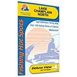 Champlain-North Fishing Map, Lake (Quebec waters to South Hero)