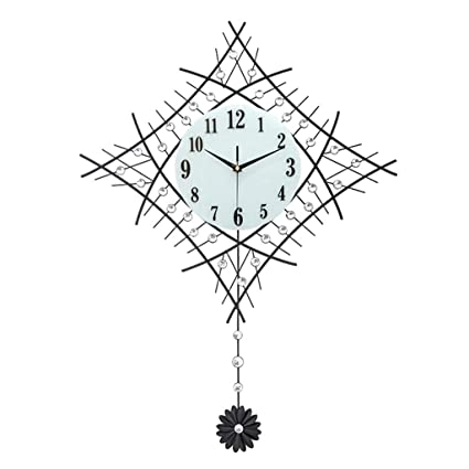 Amazon Com Creative Clock Wall Clock Living Room Modern Minimalist