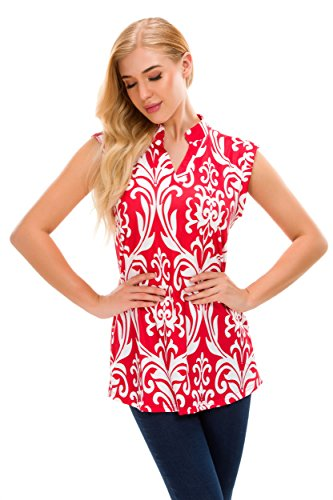 Uni Red Manches Gilet Longues sexylady Femme q65SSH