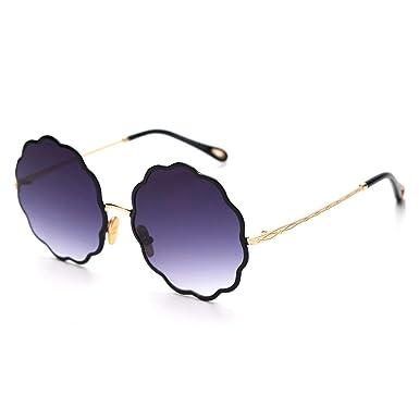 Amazon.com: Gafas de sol redondas para mujer 2019, diseño de ...