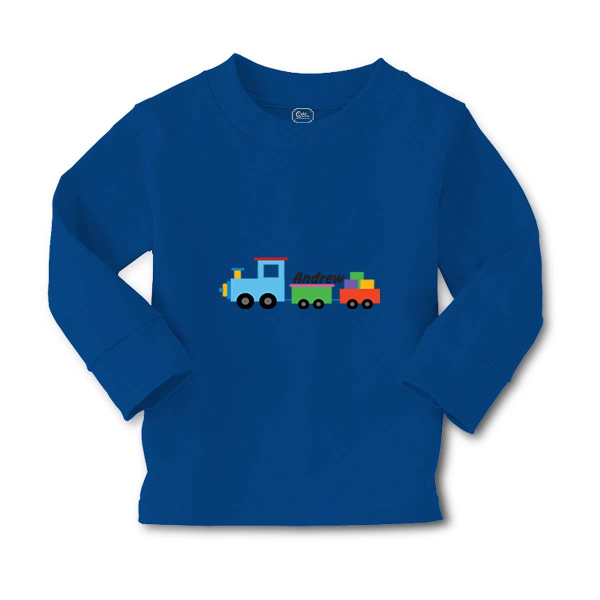 Old Train Crewneck Girls T Shirt 8121