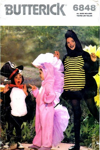 Spider Halloween Costume Pattern (Butterick 6848 Costume Sewing Pattern Girls Boys Spider Unicorn Bumble Bee Halloween)