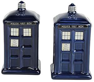 Doctor Who Tardis cerámico sal y pimienta