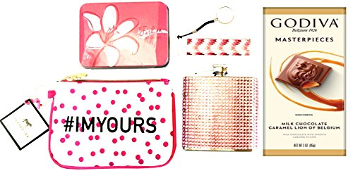 Young Woman Gift - Bachelorette Gift -Girlfriend Gift -Perfect for Birthdays, Christmas, Valentines, Easter, Thinking of You & Love Gestures (Chocolate - Pink Bling Flask)