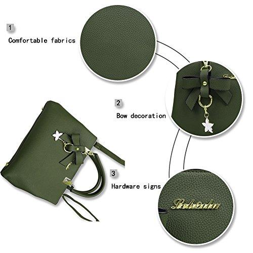 à main Cabas dames Sacs Sacs cuir Magic main PU de Vert femmes bandoulière Zone en mode Sacs à pour à wxttq1AUE