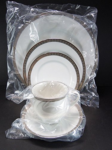 - Crown-platinum By Rosenthal - 5 Piece Place Setting (Includes: Dinner Plate, Salad Plate, Bread Plate, Tea Cup, and Tea Saucer)