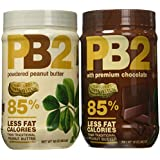 PB2 Powdered Peanut Butter Bundle - 2 Items: Powdered Peanut Butter 16 oz. and Powdered Chocolate Peanut Butter 16 oz