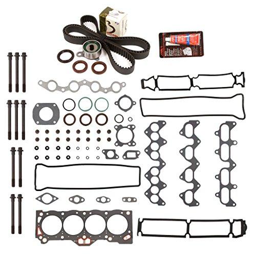Evergreen HSHBTBK2013 Head Gasket Set Head Bolts Timing Belt Kit 88-92 Chevrolet Toyota 1.6 4AGE 4AGELC