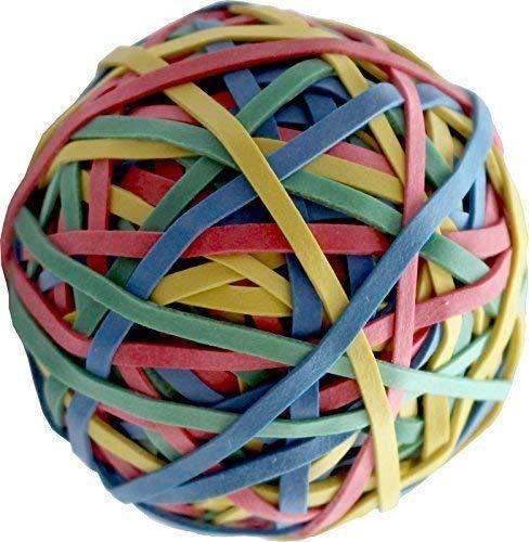 4er-Set 200 St/ück pro Ball elastische und dehnbare Gummib/änder f/ür Haare und zum Basteln insgesamt 800 St/ück Nbeads Ball mit bunten Gummis
