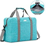 HOKEMP Swim Bag for Women Travel Weekender Duffle Bag Wet & Dry Compartments for Swimming, Gym, Pool, Beach (Blue)