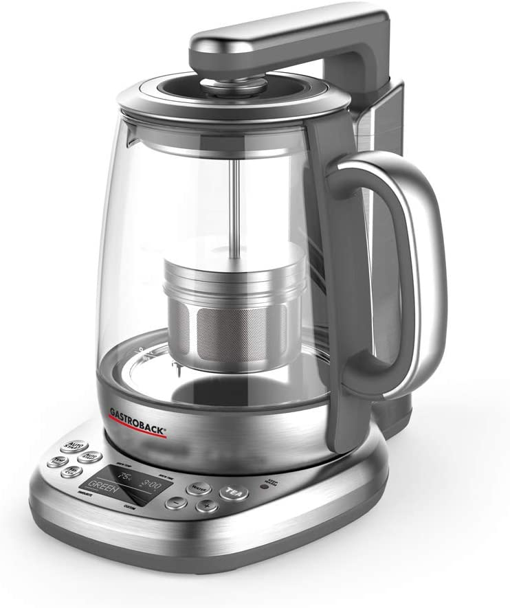 acero inoxidable, cristal color plateado Cafetera autom/ática GASTROBACK 42440 Design Tee Automat Advanced Plus