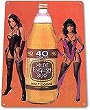 girl beer signs - TIN SIGN B367 Olde English 40oz Beer Pin-up Girl Liquor Bar Pub Retro Beer Sign