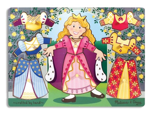 Melissa & Doug Princess Dress-up Mix 'n Match Peg - Match Puzzle Peg Mix N